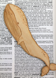 Wooden Blue Whale Bookmark