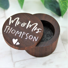 Custom Couple Surname Wooden Ring Box