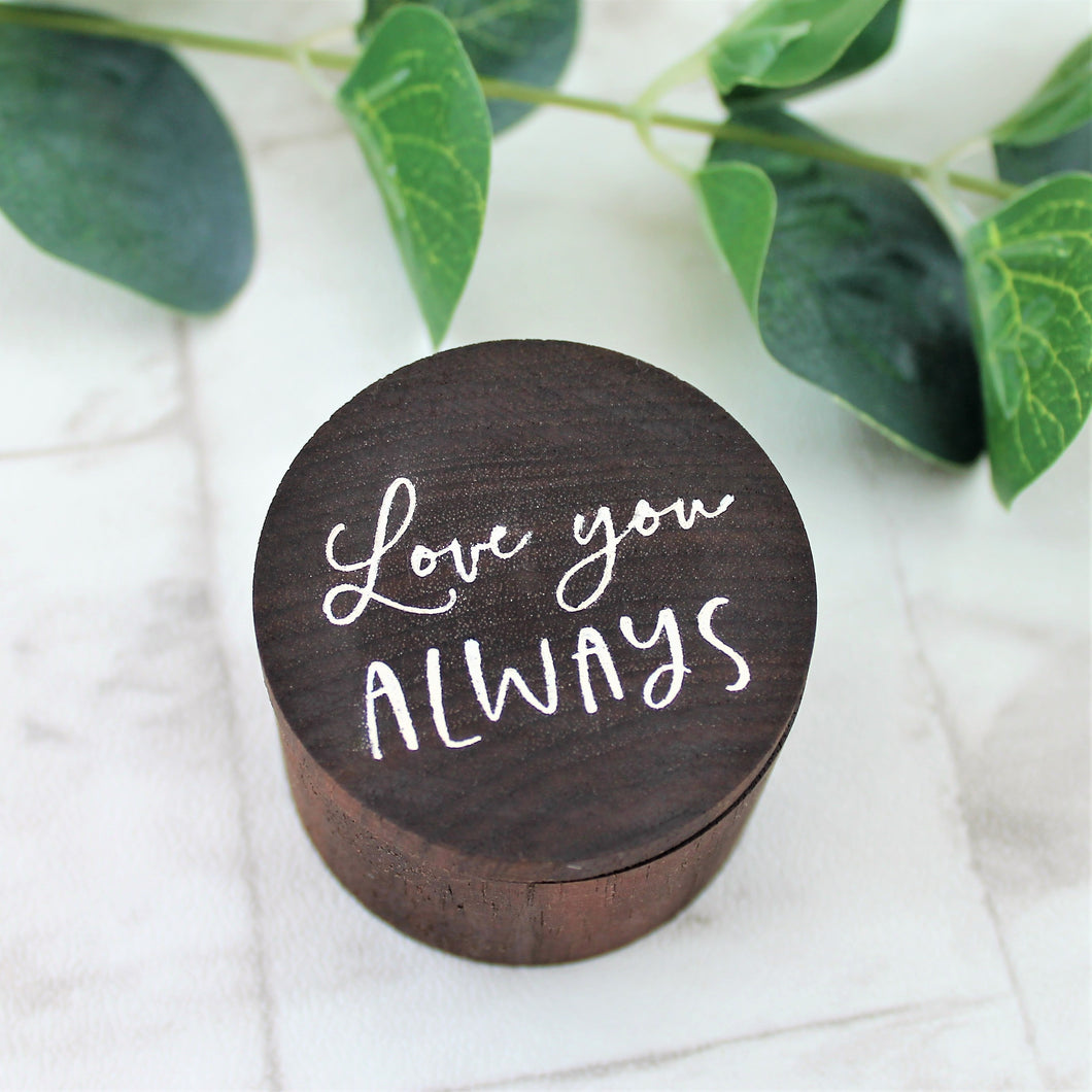 Love you Always Wooden Ring Box