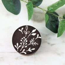 Floral Wooden Ring Box