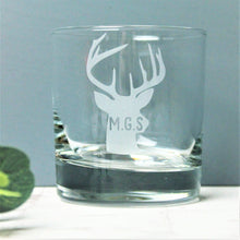 Custom Initial Stag / Deer Glass