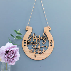 Happily Ever After Horseshoe Wedding Gift