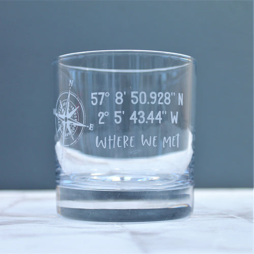 Personalised Coordinate Glass Tumbler