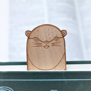Wooden Otter Bookmark