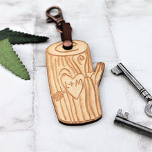 Personalised Tree Carving - Wooden Keyring
