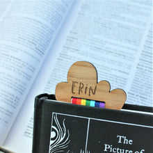 Custom Rainbow Cloud Bookmark