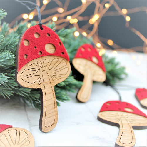 Toadstool Bauble Set
