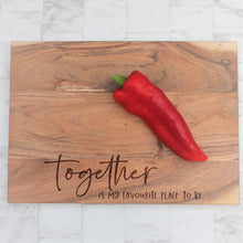 Wooden rustic engraved chopping board with the words eat cheese and brie happy