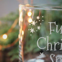 Full of Christmas spirit engraved glass