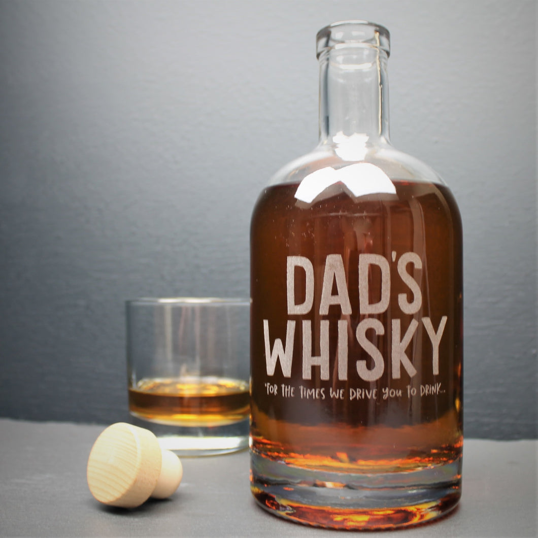 Engraved Whisky Bottle - Dad's Whisky