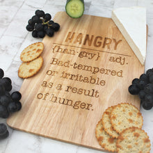 Hangry definition funny serving board for parties and cheeseboards