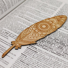 Boho Feather Bookmark