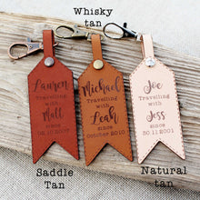 Customised Leather Luggage Tag - Travelling Since