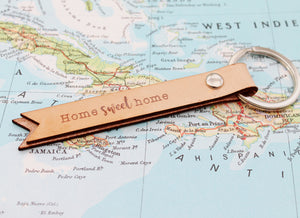 Home Sweet Home Leather Keyring