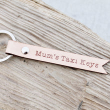 Mums Taxi Keys Leather Keychain Keyring