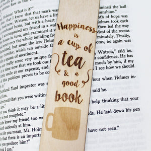 Happiness is a Cup of Tea and a Good Book Bookmark