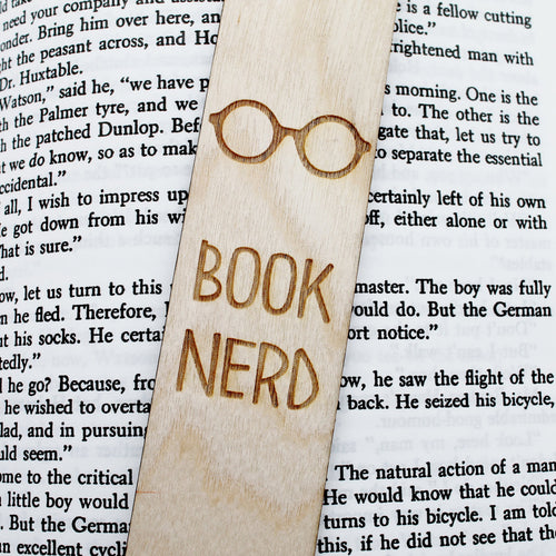 Book Nerd - Wooden Engraved Bookmark
