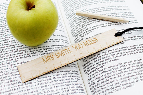 Custom Teacher Gift - Ruler Bookmark