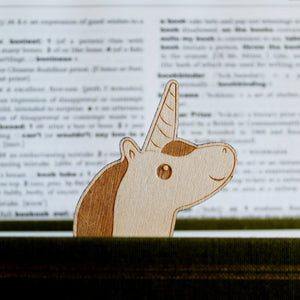 Unicorn Wooden Bookmark