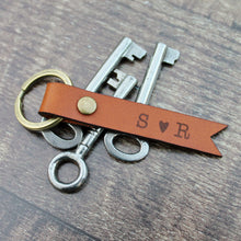 Couple Keyring with Initials Custom Keyring