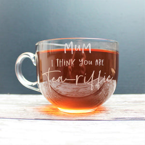 Glass tea mug - Large size for tea loving mum