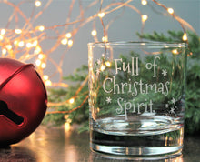 Whisky lover - engraved glass - full of Christmas spirit