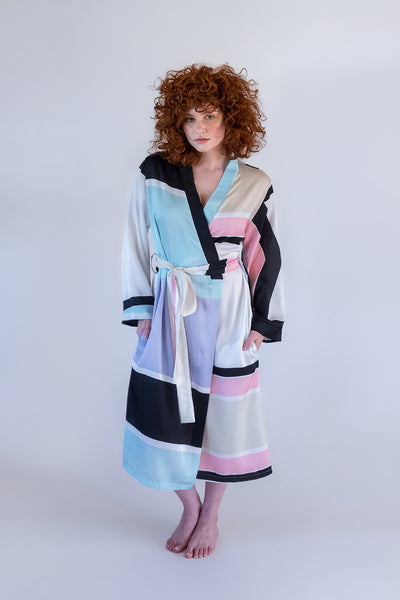Ladies Summer Wrap Dressing Gown