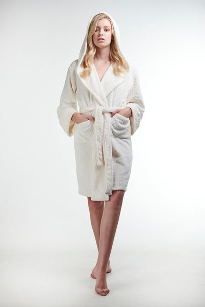 Ladies Luxe Winter Robe - Dreamy Cream