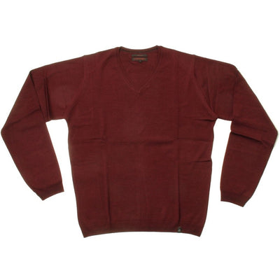 Stonehill Basic V-neck Knit 008 Burgundy