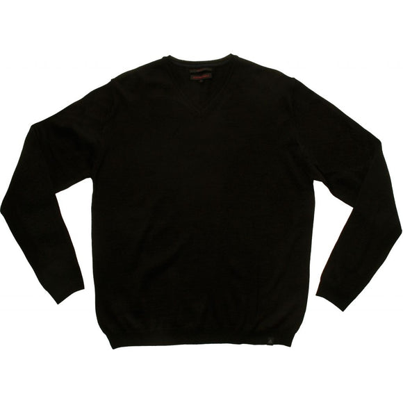 Stonehill Basic V-neck Knit 009 Black