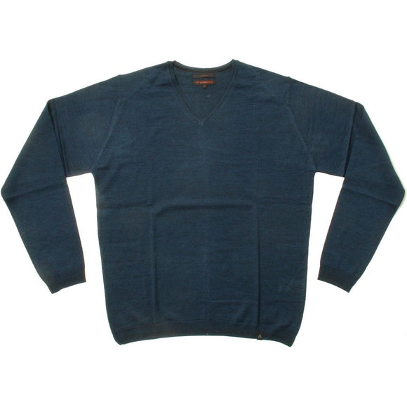 Stonehill Basic V-neck Knit 105 Blue melange