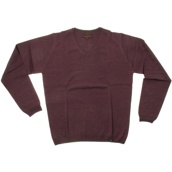 Stonehill Basic V-neck Knit 108 Plum melange
