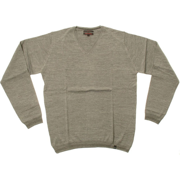 Stonehill Basic V-neck Knit 111 Grey melange