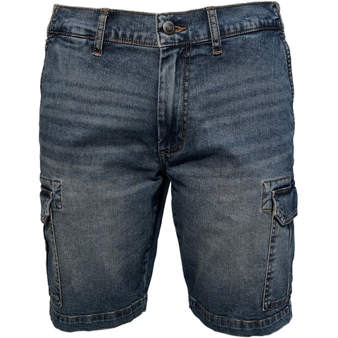 EMERI / Denim Cargo shorts, stretch / 300129X - Stonewash