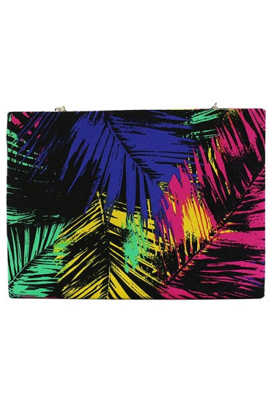 Color Frenzy Clutch - Kream
