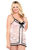 Ribbon Front Babydoll and Thong