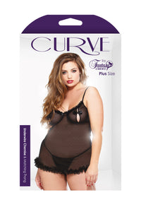 Underwire Ruffled Chemise and Thong