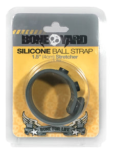 Boneyard 1.5inch Silicone Ball Strap - 3 Snap - Grey