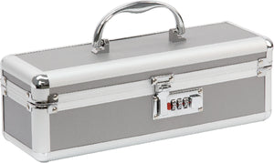 Lockable Medium Vibrator Case Silver