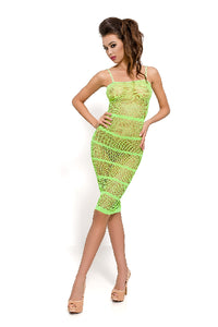 Dress Translucent Mesh Green BS033