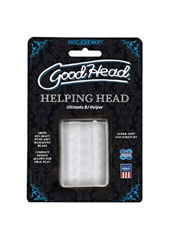 Doc Johnson Goodhead - Helping Head - Ultimate BJ Helper - 2.3 inch ULTRASKYN Stroker - Compact Desight Allows For Oral Play - Proudly Made In America - Frost