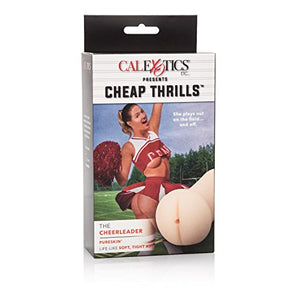 CalExotics Cheap Thrills The Cheerleader - Travel Sized Male Masturbator - Silicone Masturbation Sleeve - 5 Inch Adult Male Sex Toy - Ivory