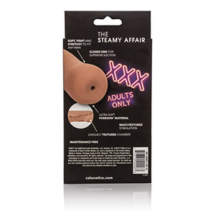 CalExotics Cheap Thrills The Steamy Affair - Travel Sized Male Masturbator - Silicone Masturbation Sleeve - 4.75-Inch Adult Male Sex Toy - Brown