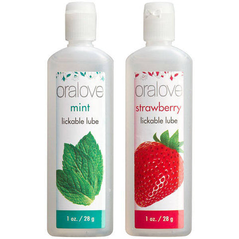 Oralove Oral Delight Mint & Strawberry Flavoured Lubricants | Private Playground: Sex Toys & Adult Products