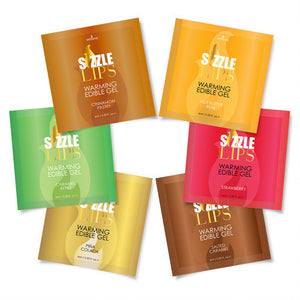 Sizzle Lips Warming Gel Assorted Flavor 100 Single