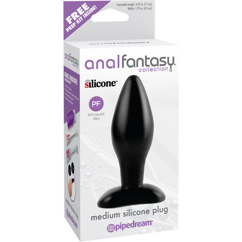 Anal Fantasy Collection Medium Silicone Plug | Private Playground: Sex Toys & Adult Products - 2