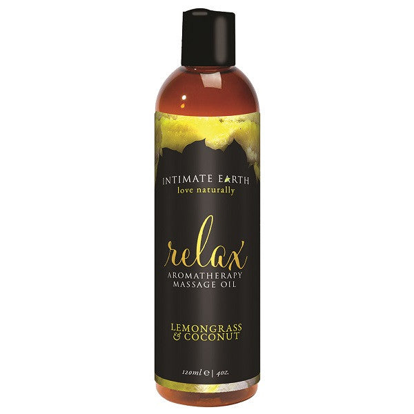 Relaxing Massage Oil Lemongrass and Coconut 120mL | Private Playground: Sex Toys & Adult Products