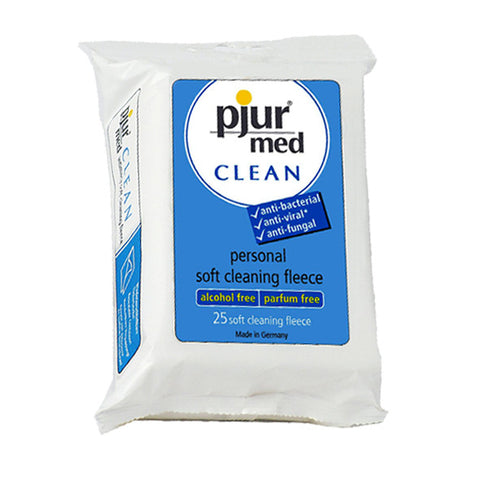 pjur Med Clean Soft Fleece (25 Pack) | Private Playground: Sex Toys & Adult Products