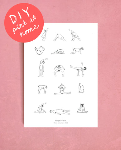 DIY Yoga People - Print at home