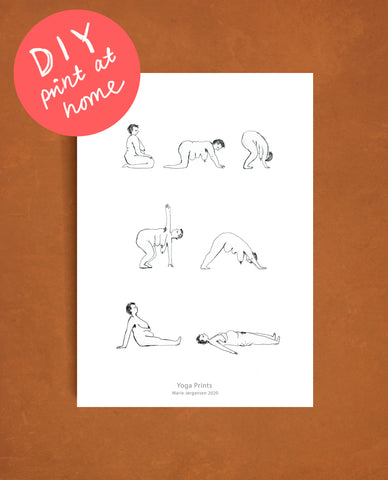 DIY Chill yoga - Print at home